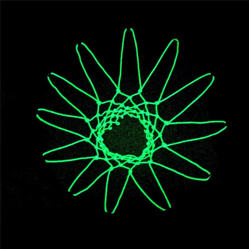 New グローイングライト射撃訓練緑色発光バスケットボールネットバックボードリムボールメッシュナイロン標準バスケットボールフープネット
