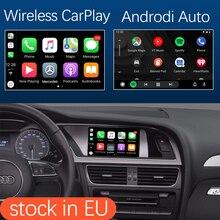 Wireless Apple CarPlay Android Auto Interface für Audi A4 A5 2009 2015, mit MirrorLink AirPlay Auto Spielen USB HDMI Kamera Funktion