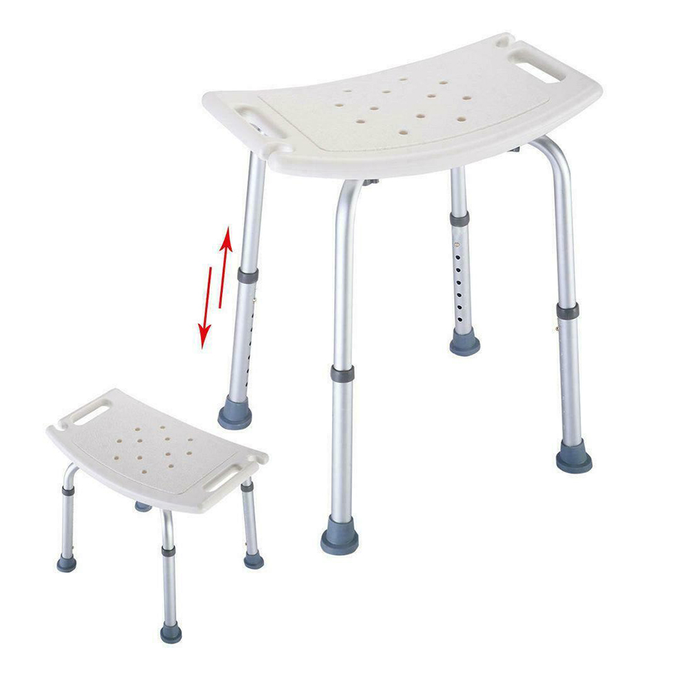Shower-Chair Toilet-Seat Bench-Aid Bath Disabled Elderly Non-Slip Height And Without