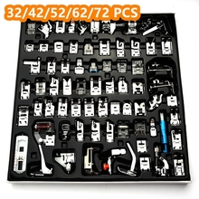 32 pcs Sewing machine presser foot with box Press Feet For Brother Singer Sew Kit Braiding Blind Stitch Over Lock Zipper Ruler