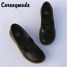 Careaymade-Inside&Outside leather 100% breathable shoes full leather, cowhide shallow mouth single simple womens