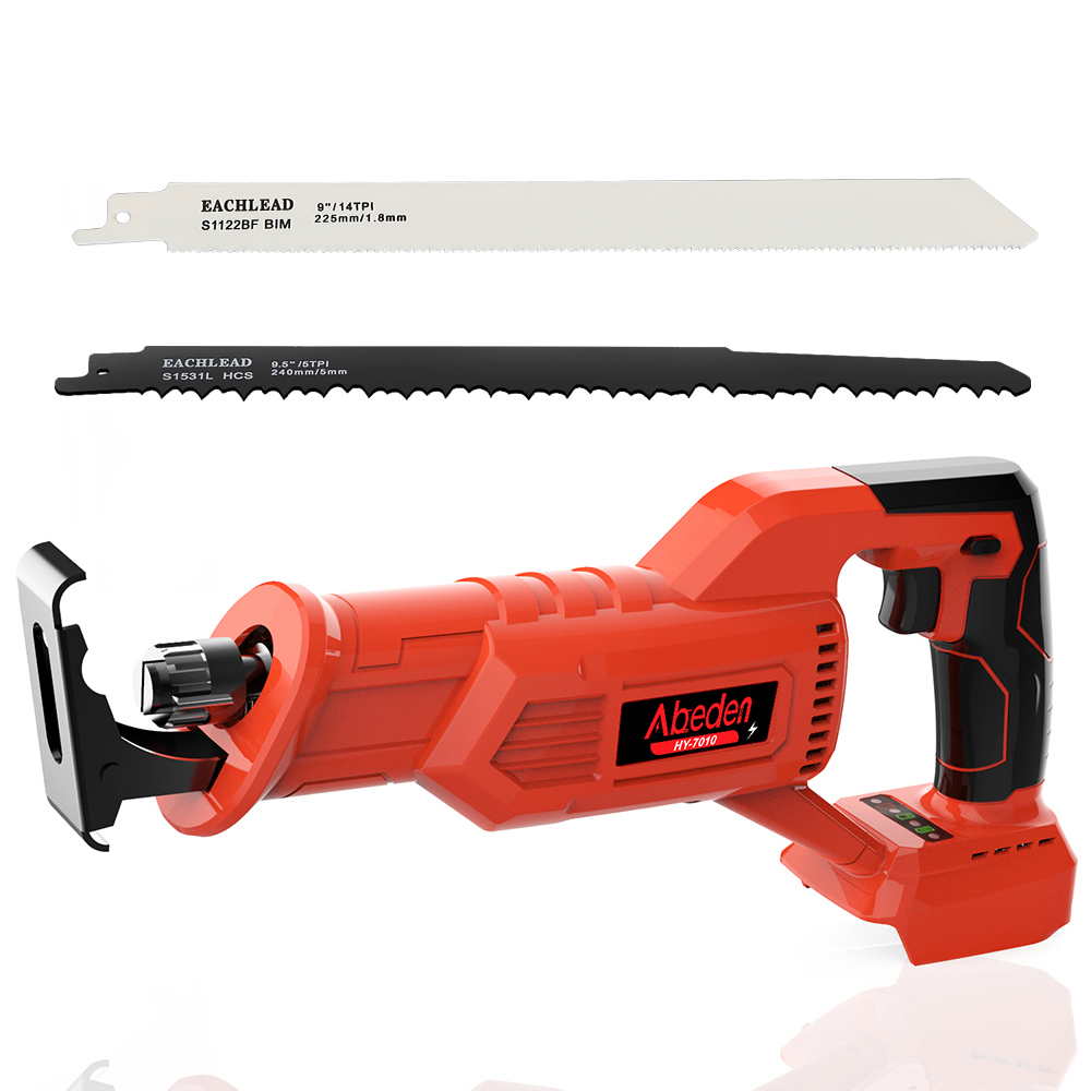 Abeden Rechargeable Reciprocating Saw Cordless HY-7010 for Makita 18v Battery Cutting Woodworking Brushless Motor Equipped