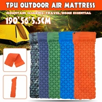 Outdoor Camping 190X56X5.5cm Inflatable Mattress Ultralight Air Bed Portable Tent Sleeping Pad Camp Moisture proof Pad