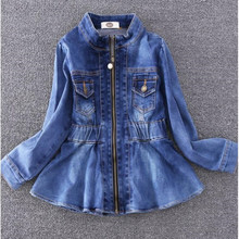 цены New Autumn Girls jean Coat Baby Kids fashion Outwear Baby Kids Coats Jacket Clothing