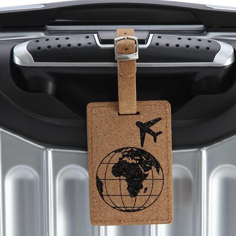 Heiße Neue 1 stücke Erde Koffer Leder Gepäck Tag Label Tasche Anhänger Handtasche Reise Zubehör Name ID Adresse Tags
