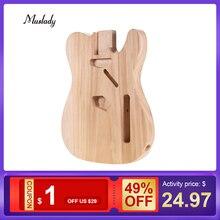 Muslady TL-T02 незавершенная электрогитара корпус DIY гитара Sycamore деревянный пустой корпус гитары для теле-стиля электрогитары запчасти