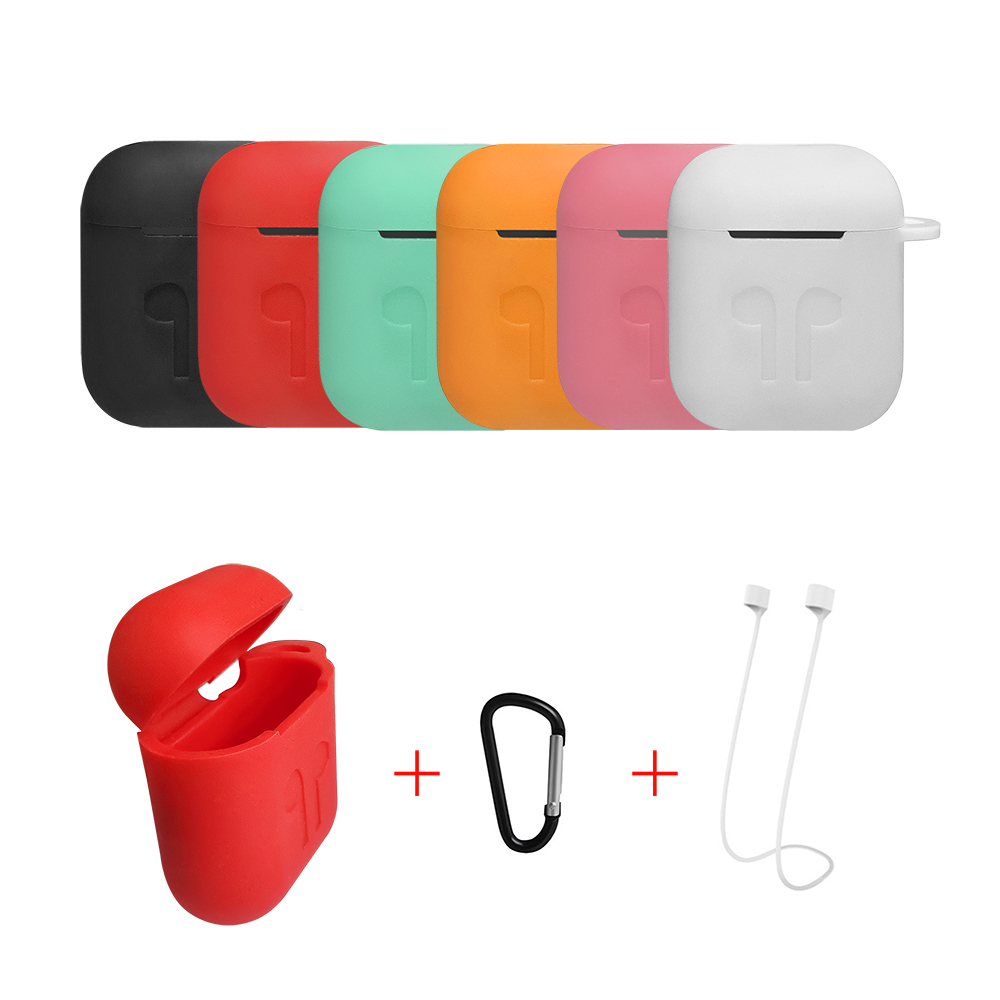 Mini Soft Silicone Case 3 In 1 Earphone Silicone Case For Apple Airpods Air Pods Bluetooth Wireless Earphone Accessories
