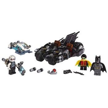 New DC Batman Mr. Freeze Batcycle Battle Model Building Blocks 76118 Toys for Children Birthday Christmas Gift batman battle for the cowl