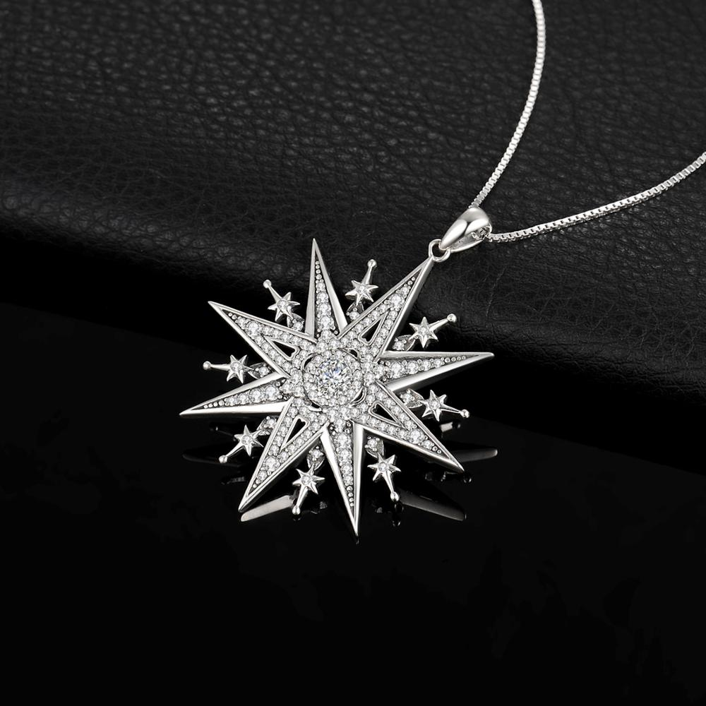 Image 3 - JewelryPalace Vintage Gothic Cubic Zirconia North Star Pendant Necklace Without a Chain 925 Sterling Silver Pendants for WomenNecklaces   -