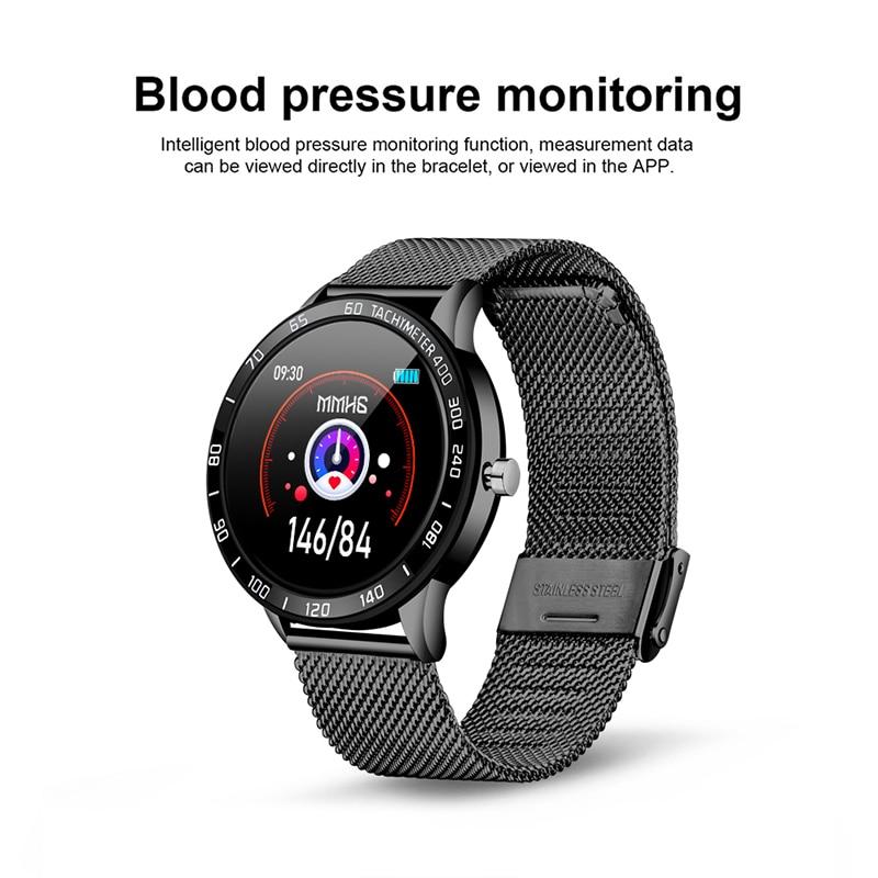 cheapest LIGE New Smart Watch Men Women OLED Color Screen Heart Rate Blood Pressure Multi-Function Mode Sport Smartwatch fitness Tracker
