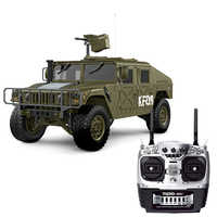 HG P408 1/10 2.4G 4WD 16CH 30km/h RC Model Car Light Sound Function U.S.4X4 Truck without Battery Charger for kids - Olive Drab