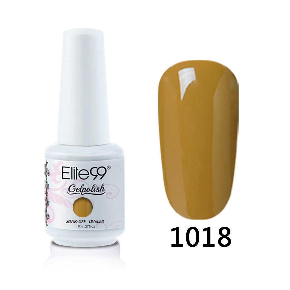 Elite99 8ml jel oje şarap kırmızı renk UV jel vernik kapalı islatın Vernis yarı kalıcı tırnak jeli lehçe tırnak sanat cila çivi