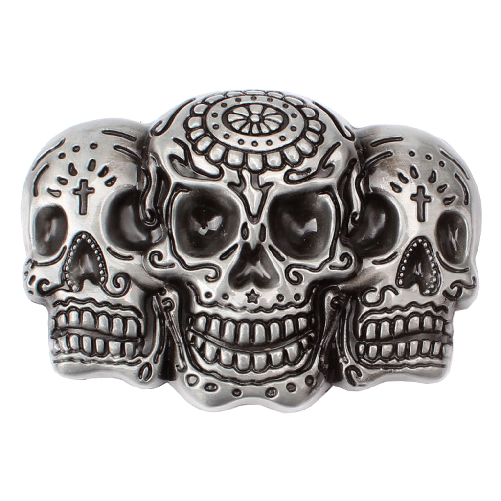 Vintage Western Belt Buckle 3D Skull Head Gothic Punk Rock Motorcycle Biker Gift