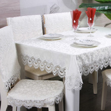 White Striped Tablecloth Lace Hollow Rectangle Table Cloth For Home Wedding European Waterproof Oilproof Cover