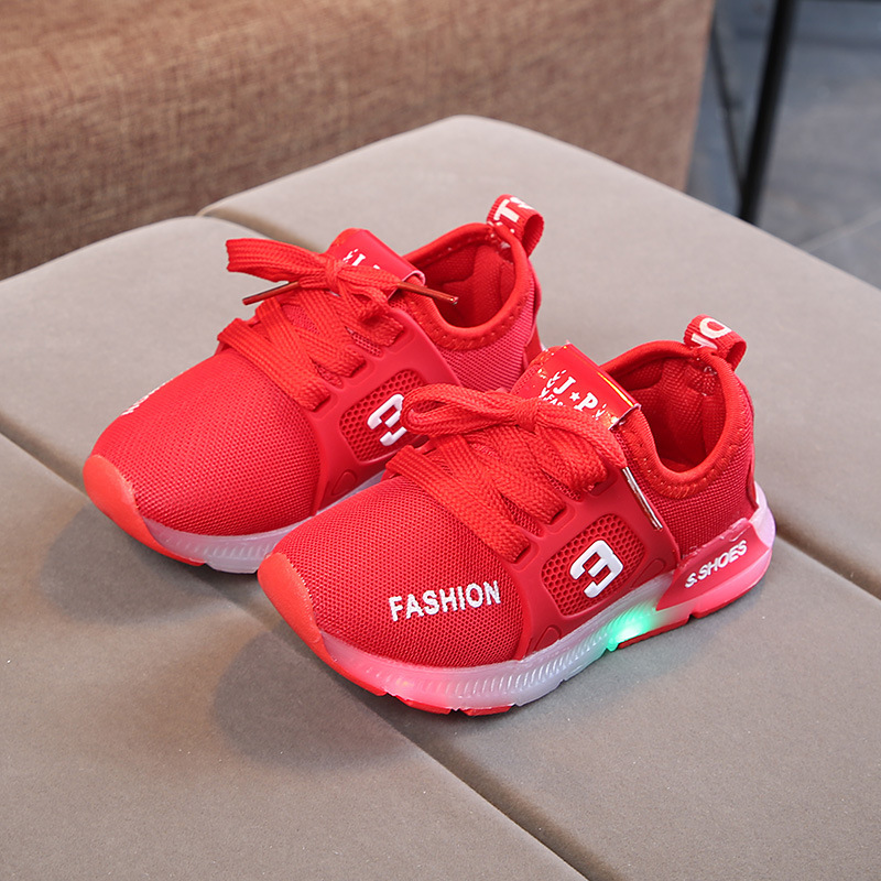 New Children's Sports Shoes Flash Sports Shoes Light Shoes Children's Shoes LED Girls Sports Shoes