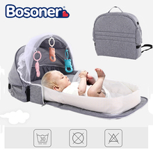 Portable Baby Bed Foldable Travel Mosquito Net Crib with Toy