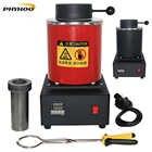 2KG mini melting furnace, metal melting furnaces, small melting furnace Jewelry Casting Equipment Jewelry Tools 1400W 220/110V