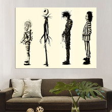 Modern Home Decor Painting Tim Burton Movie Edward Scissorhands Poster HD Print Wall Art Pictures
