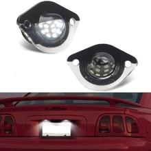 6500k beyaz LED plaka aydınlatma ışığı etiketi lambası Ford Mustang 1994 2004 için Canbus hata ücretsiz