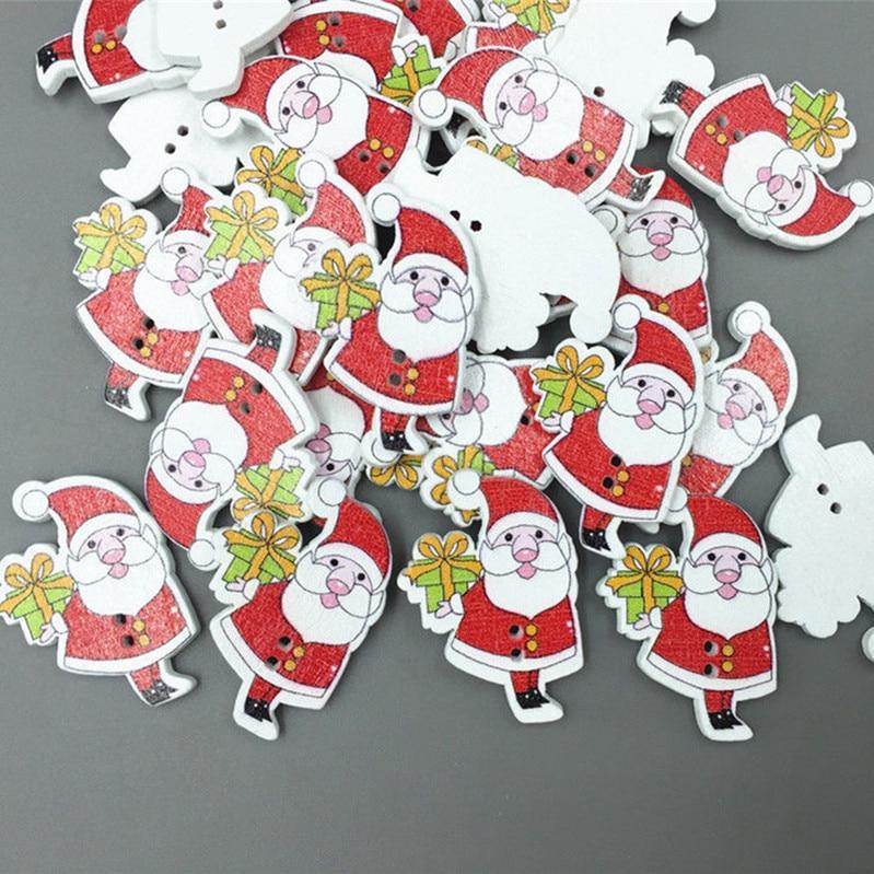 Wooden Button Cartoon Christmas snowman Sewing Scrapbooking 2 holes 33mm