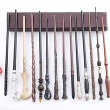 24 tipos de 35-40cm ditu metal núcleo varinhas mágicas caixa dumbledore malfoy hermione voldemort varinha mágica sem