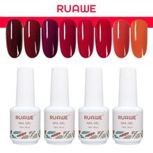 RUAWE Nail Gel Polish Wine Red 15ML UV Soak Off Vampire Blood Color Lacquer Varnish Art Design