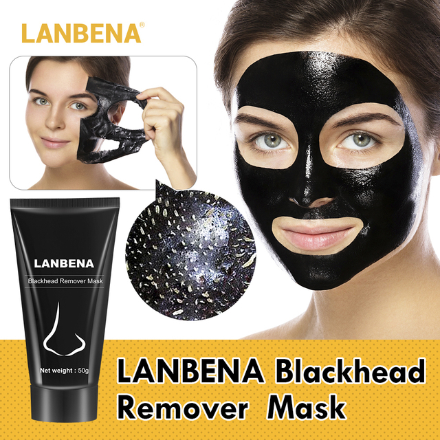 LANBENA Blackhead Remover Face Mask Nose Strip Black Mask Peel Off Acne Treatment Deep Cleansing Skin Care Plant Extracts Mild 4