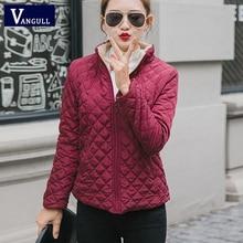 Vangull Winter Fleece Basic Jacket Long Sleeve Solid Female