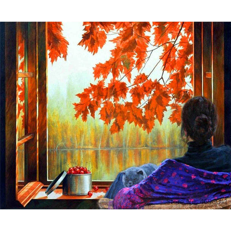 Painting By Numbers Frameworks Coloring By Numbers Home Decor Pictures Figure Painting Decorations RSB8377