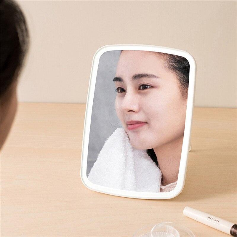 Портативное зеркало для макияжа, светодиодный светильник, натуральный, USB, запасной угол, регулируемый, сенсорное управление, яркость, затемняемый светильник, s, для женщин