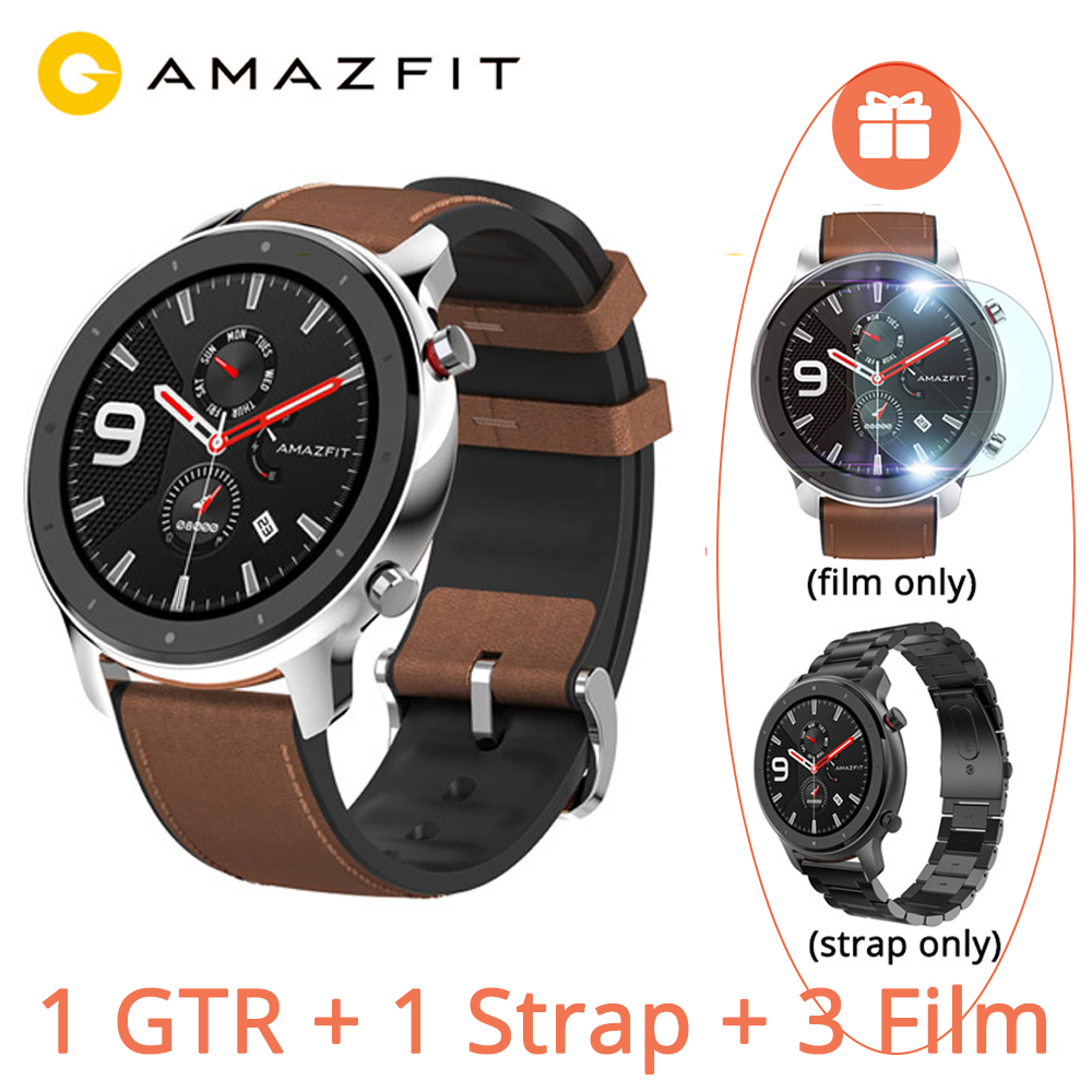 Versão Global Huami AMAZÔNIA GTR 5ATM 47mm Relógio Inteligente 1.39