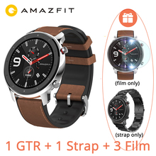 "Versione globale Huami AMAZFIT GTR 47mm Smart Watch 5ATM 1.39 ""AMOLED GPS GLONASS Smartwatch uomo 24 giorni batteria controllo musica"