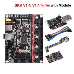 Image 1 - BIGTREETECH SKR V1.4 BTT SKR V1.4 터보 제어 보드 32 비트 3D 프린터 부품 SKR V1.3 TMC2209 TMC2208 Ender3 업그레이드 DIY 키트
