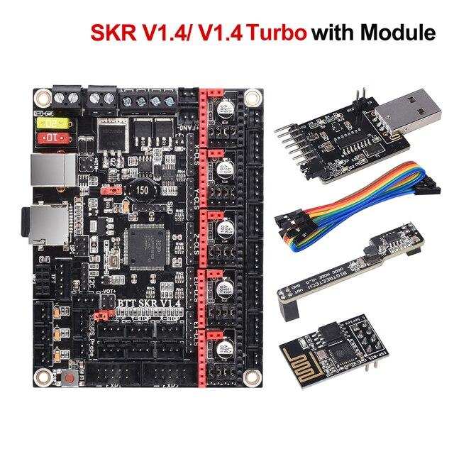 BIGTREETECH SKR V1.4 BTT SKR V1.4 터보 제어 보드 32 비트 3D 프린터 부품 SKR V1.3 TMC2209 TMC2208 Ender3 업그레이드 DIY 키트