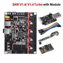 Bigtreetech skr v1.4 btt skr v1.4 turbo placa de controle 32 bit peças impressora 3d skr v1.3 tmc2209 tmc2208 ender3 kit atualização diy