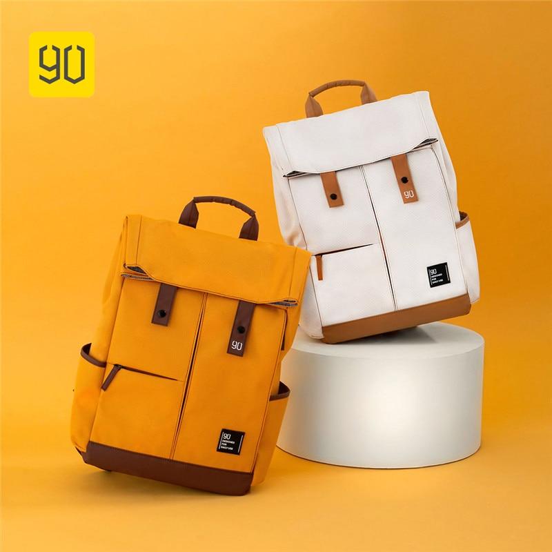 90Fun 13L College Backpack 15.6 Inch Laptop Backpack Leisure Waterproof Shoulder School Bag Large Capacity Travel Bags Mochila