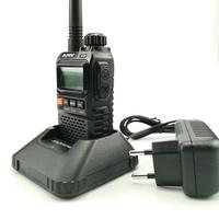 vhf uhf 2pcs Baofeng UV3R פלוס מכשיר הקשר Portable 3W UHF & VHF מיני UV 3R + UV3R פנס FM משדר Ham תחנת רדיו מכוניות (5)
