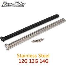 Spoke Bicycle Nipple Knitting-Needle Electric-Bike 12G Black Radius Stainless-Steel 14G