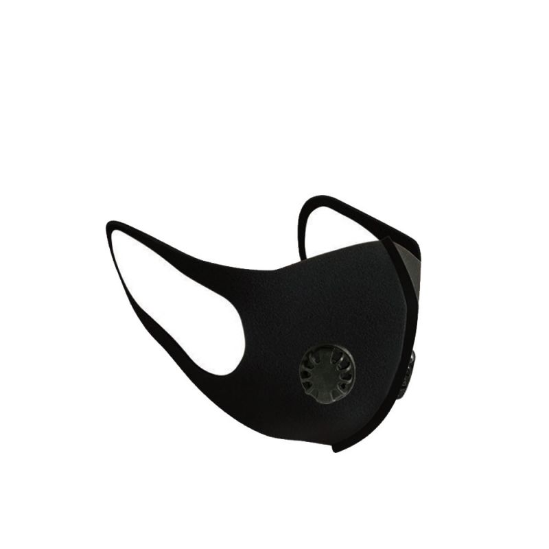 3D Mouth Cover Anti Dust Mask Anti PM2.5 Pollution Face Mouth Respirator Black Breathable Valve Mask Filter