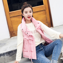 Autumn Women Winter Vest 2018 casual Slim solid thicken warm cotton padded waistcoat parka Stand Collar winter vest female M-3XL