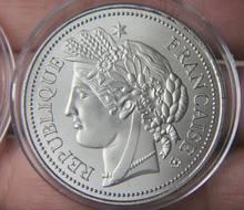 Grain deusa frança sliver cor chapeado moeda comemorativa medalha lembrança festa artes presentes lembrança