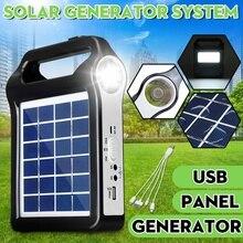 USB зарядное устройство 6 в солнечная панель генератор для хранения энергии домашняя система Комплект перезаряжаемая 9 Вт портативная солнечная генераторная система