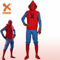 XCOSER Heißer Neue Spinne Mann Hausgemachte Anzug Superhero Film Spider-Mann Homecoming Cosplay Outfits Halloween Kostüm für Männer Erwachsene