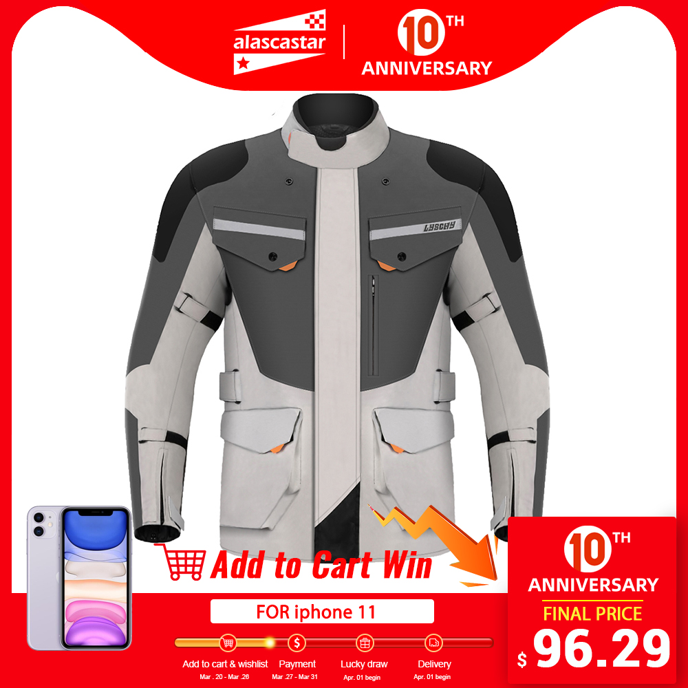 LYSCHY мотоциклетная куртка мужская зимняя водонепроницаемая мотоциклетная куртка для езды на мотоцикле мотоциклетная Защитная Экипировка б
