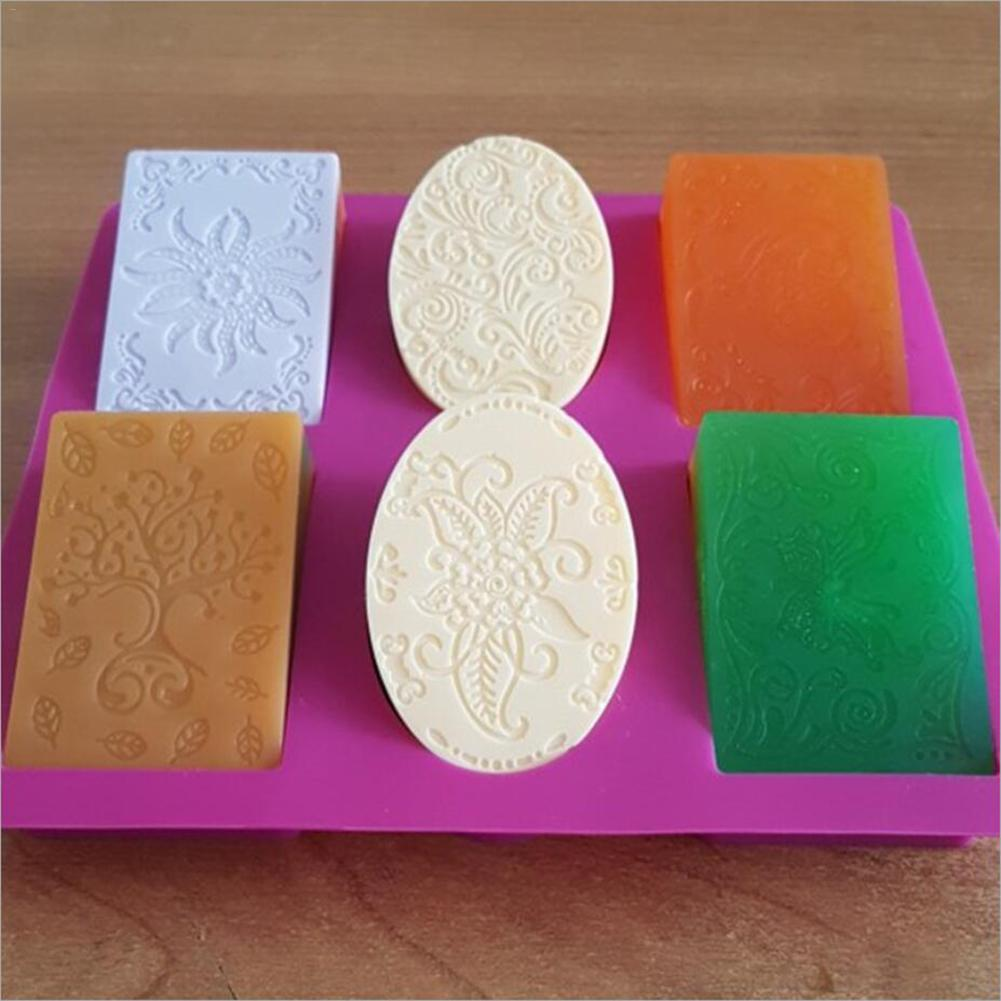 Handmade Silicone Soap Molds DIY Baking Biscuit Chocolate Mold Soap Making Supplies