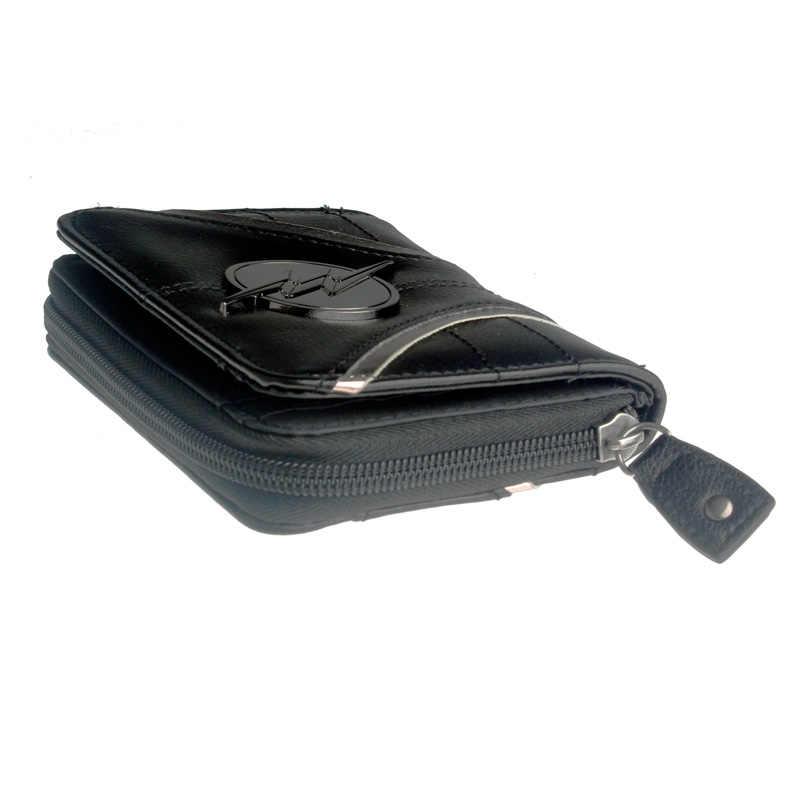 Flash portefeuille fermeture éclair femmes portefeuilles en cuir synthétique petits sacs à main et portefeuilles femme porte-carte poche à monnaie dames pochette courte
