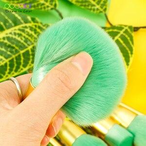 Image 4 - Docolor 14 pçs pincéis de maquiagem conjunto beleza fundação pó sombra compõem escova cabelo sintético cosméticos compõem escova ferramenta