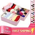 Diniwell 3 pcs foldable nonwoven 홈 속옷 저장 상자 브래지어 넥타이 양말 컨테이너 주최자 옷장 그리기 분배기
