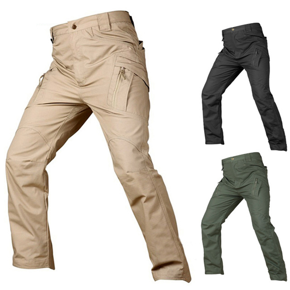 IX9 Military Urban Tactical Pants Men Spring Cotton SWAT Army Cargo Pants Casual EDC Pockets Soldier Stretch Combat Trousers