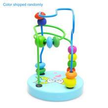 Деревянная игрушка пазл kisd для малышей мини лабиринт с цветными